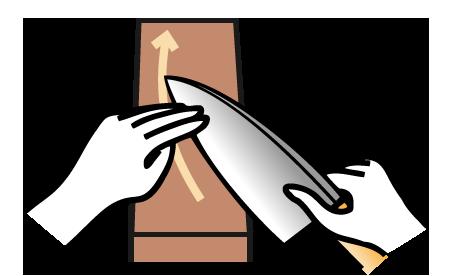 庖丁の研ぎ方2