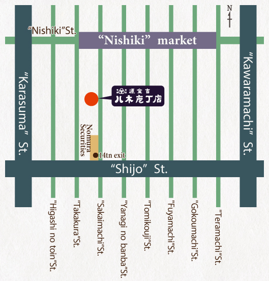 八木庖丁店の地図